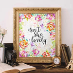 Isn't She Lovely - Printable - Gracie Lou Printables
