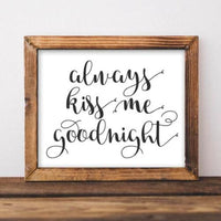 Kiss Me Goodnight - Printable - Printable Digital Download Art by Gracie Lou Printables