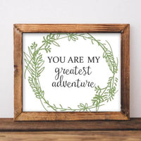 You Are My Greatest Adventure - Printable - Printable Digital Download Art by Gracie Lou Printables
