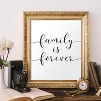 Family is forever - Printable - Printable Digital Download Art by Gracie Lou Printables