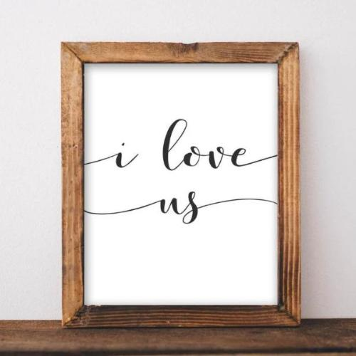 I Love Us - Printable - Printable Digital Download Art by Gracie Lou Printables