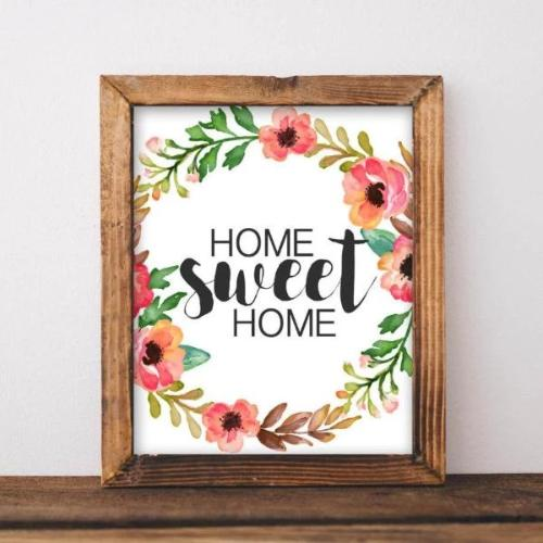 Home Sweet Home - Printable - Printable Digital Download Art by Gracie Lou Printables