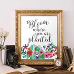 Bloom - Printable - Printable Digital Download Art by Gracie Lou Printables