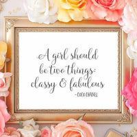 Classy and Fabulous - Printable - Printable Digital Download Art by Gracie Lou Printables