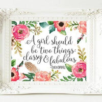 A girl should be two things - Printable - gracie-lou-printables