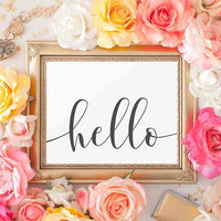 Hello - Printable - Gracie Lou Printables