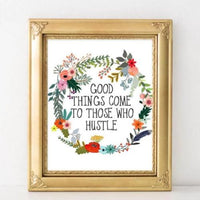 Good Things Come - Printable - Printable Digital Download Art by Gracie Lou Printables