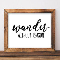 Wander Without Reason - Printable - gracie-lou-printables