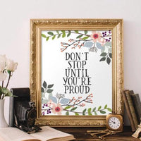 Don't Stop - Printable - Printable Digital Download Art by Gracie Lou Printables