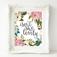 Isn't She Lovely - Printable - Printable Digital Download Art by Gracie Lou Printables