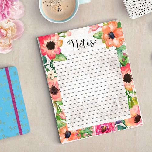 Floral Notes List - Printable - Printable Digital Download Art by Gracie Lou Printables