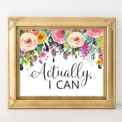 Actually I Can - Printable - Printable Digital Download Art by Gracie Lou Printables