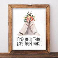 Find Your Tribe - Printable - Gracie Lou Printables