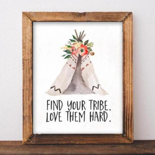 Find Your Tribe - Printable - Printable Digital Download Art by Gracie Lou Printables