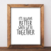 Together - Printable - Printable Digital Download Art by Gracie Lou Printables
