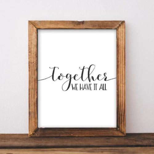 Together - Printable - Gracie Lou Printables