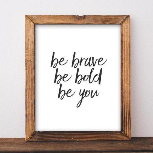 Be Brave - Printable - Gracie Lou Printables