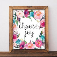 Choose Joy - Printable - Printable Digital Download Art by Gracie Lou Printables