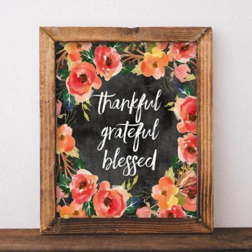 Thankful Grateful Blessed - Printable
