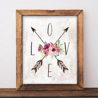 Love Compass - Printable - Printable Digital Download Art by Gracie Lou Printables
