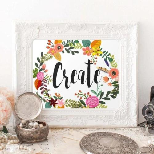 Create - Printable - Printable Digital Download Art by Gracie Lou Printables