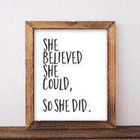 She Believed She Could So She Did - Printable - Gracie Lou Printables