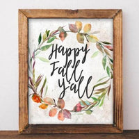 Happy Fall Y'all - Printable - Gracie Lou Printables