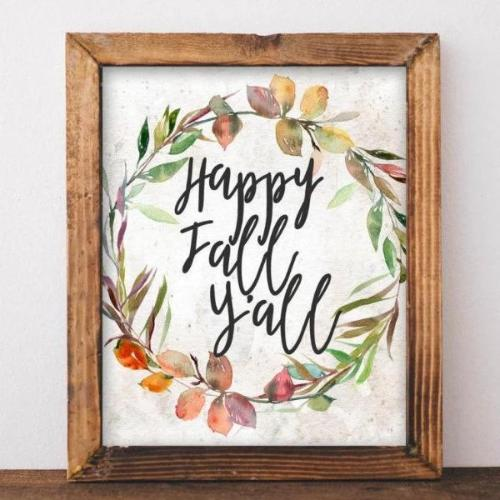 Happy Fall Y'all - Printable - Printable Digital Download Art by Gracie Lou Printables