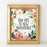 New Adventures - Printable - Printable Digital Download Art by Gracie Lou Printables