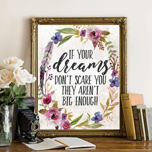 If Your Dreams Don't Scare You - Printable - Printable Digital Download Art by Gracie Lou Printables