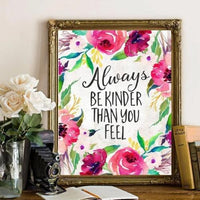 Be Kinder - Printable - Printable Digital Download Art by Gracie Lou Printables