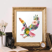Floral Eagle - Printable - Gracie Lou Printables