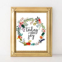 Today I Choose Joy - Printable - Printable Digital Download Art by Gracie Lou Printables