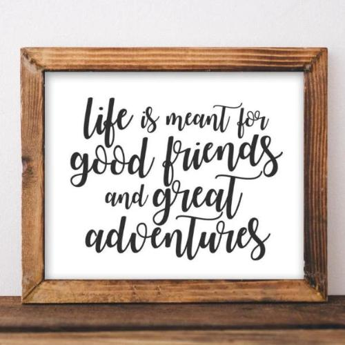 Friends and Adventures - Printable - Printable Digital Download Art by Gracie Lou Printables