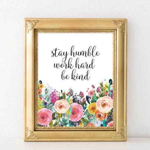 Stay humble - Printable - Gracie Lou Printables