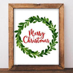 Christmas Printable Art Merry Christmas Print Watercolor Christmas art Christmas home decor Christmas Wall art Noel Santa Christmas sign art - Gracie Lou Printables