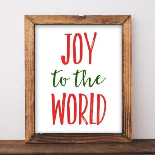 Joy to the World - Christmas - Printable Digital Download Art by Gracie Lou Printables