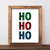 Ho Ho Ho - Printable - Printable Digital Download Art by Gracie Lou Printables