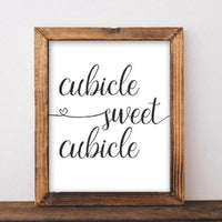 Cubicle Sweet Cubicle - Printable - Printable Digital Download Art by Gracie Lou Printables