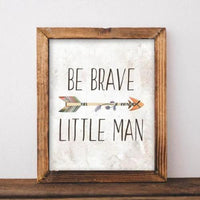 Be Brave Little Man - Printable - Gracie Lou Printables