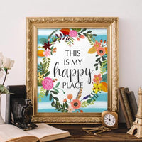 This is My Happy Place - Printable - Printable Digital Download Art by Gracie Lou Printables