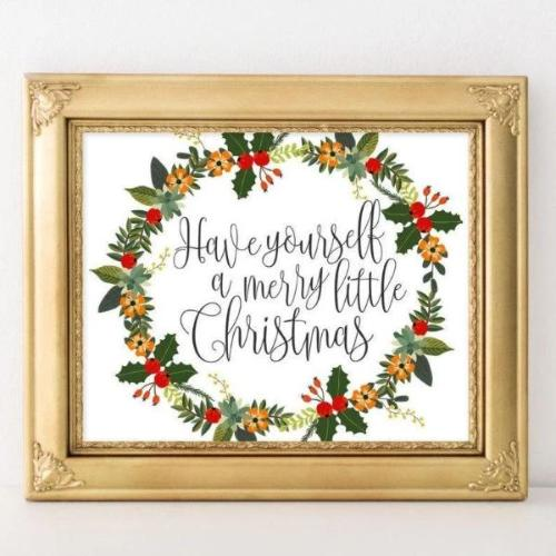 Christmas - Printable - Printable Digital Download Art by Gracie Lou Printables