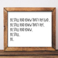 Be Still - Printable - Printable Digital Download Art by Gracie Lou Printables