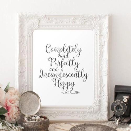 Completely and Perfectly - Printable - Printable Digital Download Art by Gracie Lou Printables
