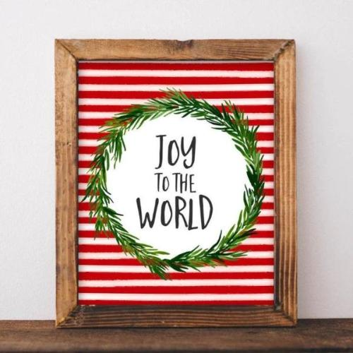 Joy to the World - Christmas - Gracie Lou Printables