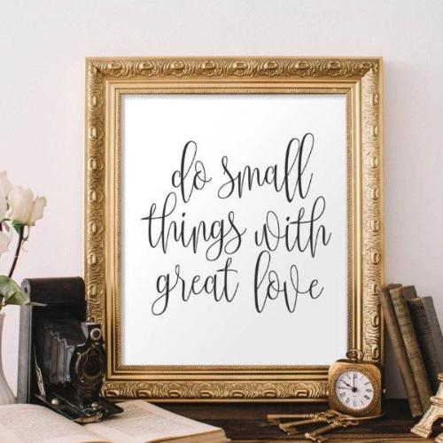 Do Small Things - Printable - Printable Digital Download Art by Gracie Lou Printables