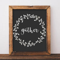 Gather - Printable - Printable Digital Download Art by Gracie Lou Printables