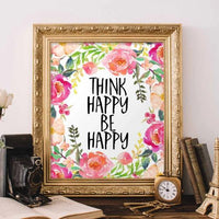 Think Happy, Be Happy - Printable - gracie-lou-printables
