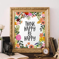 Think Happy, Be Happy - Printable - Gracie Lou Printables