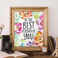 Best Version - Printable - Printable Digital Download Art by Gracie Lou Printables